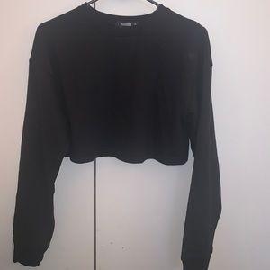 Black Long Sleeve, Cropped Length